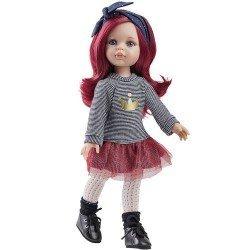 Muñeca Paola Reina 32 cm - Las Amigas Funky - Dasha con camiseta de rayas