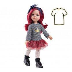 Ropa para muñecas Paola Reina 32 cm - Las Amigas - Vestido de rayas Dasha