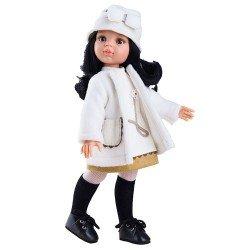 Muñeca Paola Reina 32 cm - Las Amigas - Carina con abrigo blanco con gorro