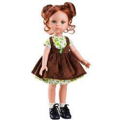 Muñeca Paola Reina 32 cm - Las Amigas - Cristi con vestido marrón