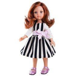 Muñeca Paola Reina 32 cm - Las Amigas - Cristi con vestido de rayas