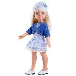 Muñeca Paola Reina 32 cm - Las Amigas - Manica con vestido azul con gorro