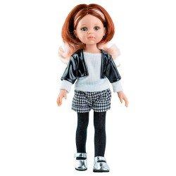 Muñeca Paola Reina 32 cm - Las Amigas Funky - Ruth con conjunto blanco y negro