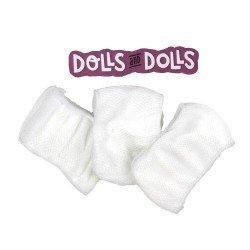 Complementos para muñecas Paola Reina 32 cm - Las Amigas - Set de tres braguitas blancas