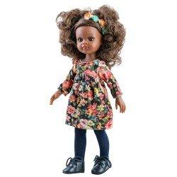 Muñeca Paola Reina 32 cm - Las Amigas - Nora con vestido de flores