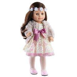 Muñeca Paola Reina 45 cm - Soy tú - Emily con tiara de flores