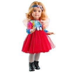 Muñeca Paola Reina 60 cm - Las Reinas - Marta con vestido de tul rojo