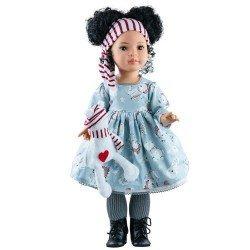 Muñeca Paola Reina 60 cm - Las Reinas - Mei con vestido ositos