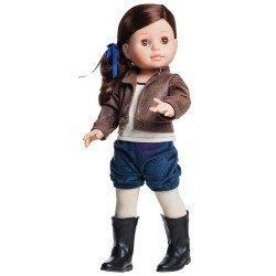 Muñeca Paola Reina 45 cm - Soy tú - Emily con pantalón azul y chaqueta marrón