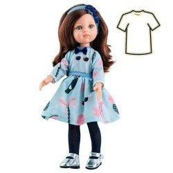 Ropa para muñecas Paola Reina 32 cm - Las Amigas - Vestido Carol azul estampado
