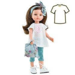 Ropa para muñecas Paola Reina 32 cm - Las Amigas - Vestido Carol primavera con mochila