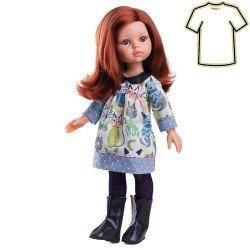 Ropa para muñecas Paola Reina 32 cm - Las Amigas - Vestido con gatitos de Cristi