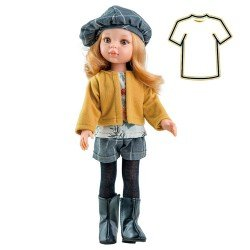 Ropa para muñecas Paola Reina 32 cm - Las Amigas - Vestido Dasha con chaqueta mostaza
