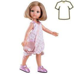 Ropa para muñecas Paola Reina 32 cm - Las Amigas - Vestido de flores con bolso de Carla