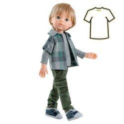 Ropa para muñecas Paola Reina 32 cm - Las Amigas - Conjunto Luis camisa de cuadros