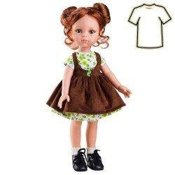 Ropa para muñecas Paola Reina 32 cm - Las Amigas - Vestido marrón de Cristi