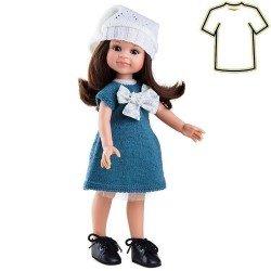 Ropa para muñecas Paola Reina 32 cm - Las Amigas - Vestido azul y gorro blanco de Cleo