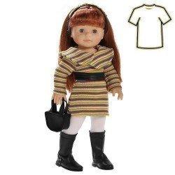 Ropa para muñecas Paola Reina 45 cm - Soy tú - Vestido muñeca pelirroja