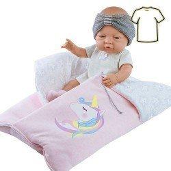 Ropa para muñecas Paola Reina 45 cm - Bebitos - Conjunto con saco unicornio