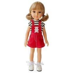 Muñeca Reina del Norte 32 cm - Blanca con peto rojo y camiseta de rayas