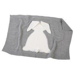 Complementos para Muñecas Llorens 42 cm - Toquilla conejito gris