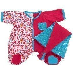 Ropa para muñecas Rubens Barn 45 cm - Rubens Baby - Pijama Fucsia