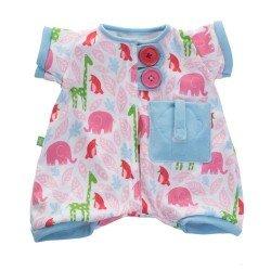 Ropa para muñecas Rubens Barn 45 cm - Rubens Baby - Pijama rosa Pocket Friends