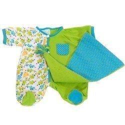 Ropa para muñecos Rubens Barn 45 cm - Rubens Baby - Pijama Verde