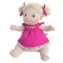 Muñeca Rubens Barn 36 cm - Rubens Kids - Linnea con vestido fucsia