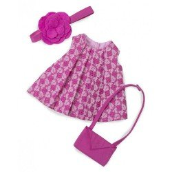 Ropa para muñecas Rubens Barn 32 cm - Rubens Cutie - Conjunto flores rosa