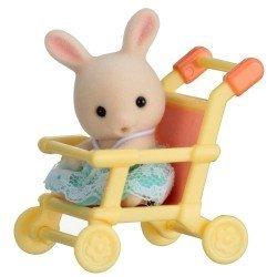 Sylvanian Families - Bebé para llevar - Conejo en cochecito