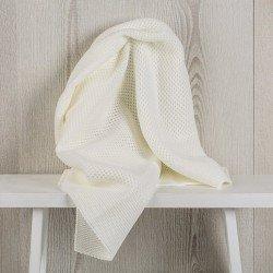 Complementos muñecas Así - Toquilla lana blanco roto