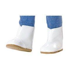Complementos para muñecas Vestida de Azul 33 cm - Paulina - Botitas blancas
