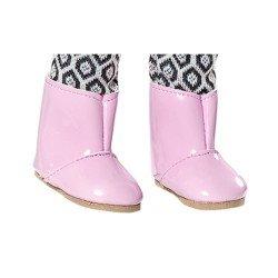 Complementos para muñecas Vestida de Azul 33 cm - Paulina - Botitas rosa