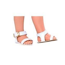 Complementos para muñecas Vestida de Azul 28 cm - Carlota - Sandalias blancas