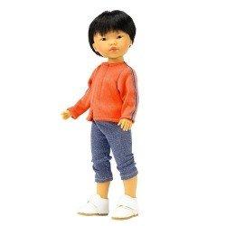 Muñeco Vestida de Azul 28 cm - Los Amigos de Carlota - Kenzo con jeans y chaqueta naranja