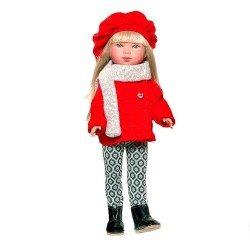 Muñeca Vestida de Azul 28 cm - Carlota rubia con chaqueta roja