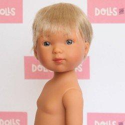 Muñeco Vestida de Azul 28 cm - Los amigos de Carlota - Nylo rubio sin ropa