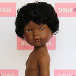 Muñeco Vestida de Azul 28 cm - Los Amigos de Carlota - Omar pelo negro afro sin ropa