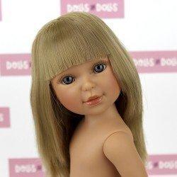 Muñeca Vestida de Azul 33 cm - Paulina rubia con flequillo sin ropa