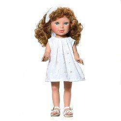 Muñeca Vestida de Azul 33 cm - Paulina pelirroja con vestido blanco