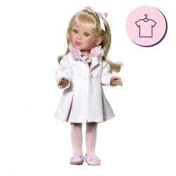 Ropa para muñecas Vestida de Azul 33 cm - Paulina - Abrigo rosa con vestido