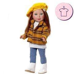 Ropa para muñecas Vestida de Azul 33 cm - Paulina - Conjunto con boina
