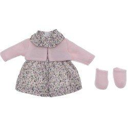 Ropa para Muñecas Así 36 cm - Vestido de flores con chaqueta rosa para muñeca Guille