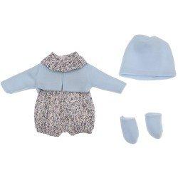 Ropa para Muñecas Así 36 cm - Ranita de flores con chaqueta azul para muñeca Guille
