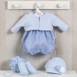 Ropa para Muñecas Así 43 cm - Ranita de flores azul con chaqueta para muñeco Pablo