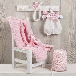 Ropa para Muñecas Así 43 cm - Pelele con mantita dacha rosa para muñeca María