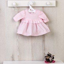 Ropa para Muñecas Así 36 cm - Vestido de vichy rosa con pechera de punto para muñeca Guille