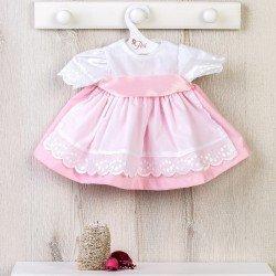 Ropa para Muñecas Así 46 cm - Vestido rosa con delantal blanco para muñeca Noor