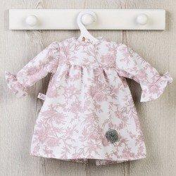 Ropa para Muñecas Así 57 cm - Vestido de pique con flores rosa viejo para muñeca Pepa